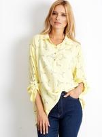 26f9fed3 Biała koszulowa bluzka z nadrukiem - Bluzka z nadrukiem - sklep ...