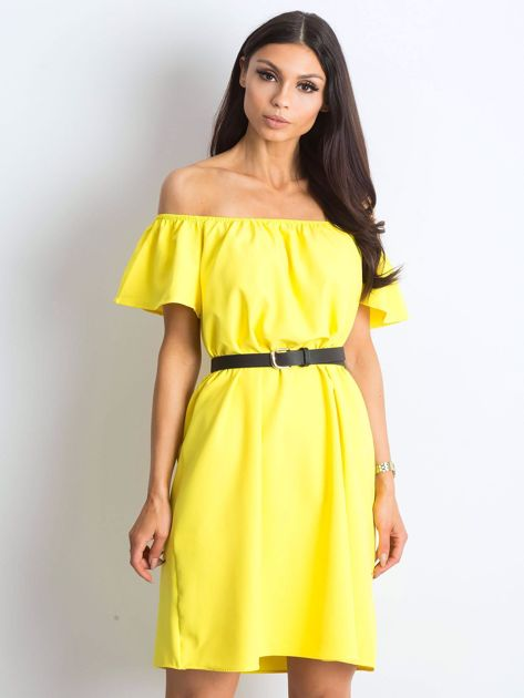 d0fcc3a78c Żółta sukienka Soleila - Sukienka hiszpanka - sklep eButik.pl